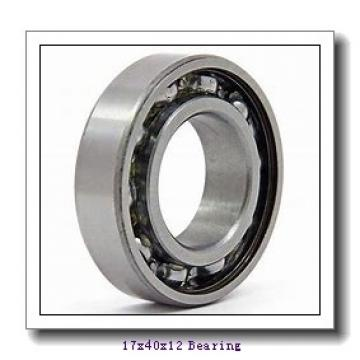 17 mm x 40 mm x 12 mm  ISO 6203-2RS deep groove ball bearings