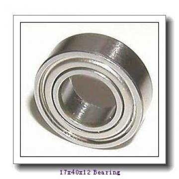 17 mm x 40 mm x 12 mm  NACHI 6203 deep groove ball bearings