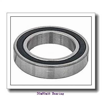 50 mm x 80 mm x 16 mm  NACHI 7010DB angular contact ball bearings
