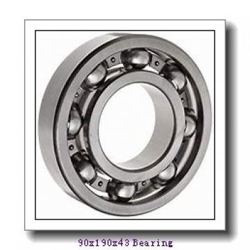 90 mm x 190 mm x 43 mm  Loyal 1318K+H318 self aligning ball bearings