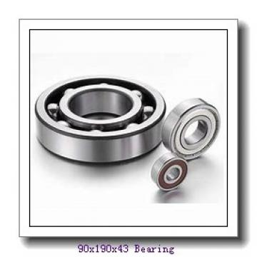 90 mm x 190 mm x 43 mm  Loyal 21318 KCW33+H318 spherical roller bearings