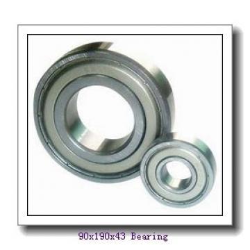 90 mm x 190 mm x 43 mm  FAG NJ318-E-TVP2 + HJ318-E cylindrical roller bearings