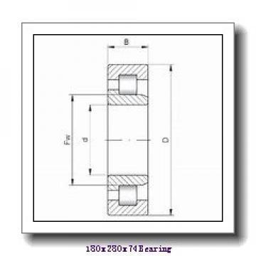 180 mm x 280 mm x 74 mm  Loyal NN3036 cylindrical roller bearings