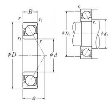 90 mm x 190 mm x 43 mm  NSK 7318 A angular contact ball bearings