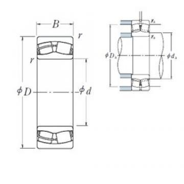 180 mm x 280 mm x 74 mm  NSK 23036CDE4 spherical roller bearings