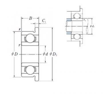6,35 mm x 15,875 mm x 4,978 mm  ISO FR4B deep groove ball bearings