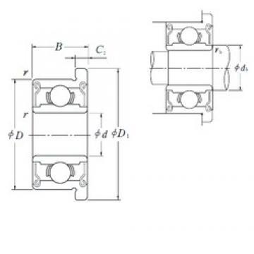 6,35 mm x 15,875 mm x 4,978 mm  ISO FR4BZZ deep groove ball bearings