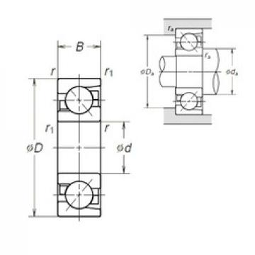 50 mm x 90 mm x 20 mm  NSK 7210BEA angular contact ball bearings