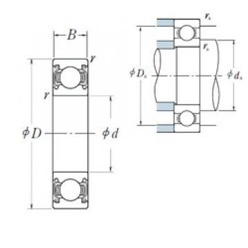 65 mm x 85 mm x 10 mm  NSK 6813ZZ deep groove ball bearings