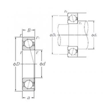 110 mm x 240 mm x 50 mm  NTN 7322B angular contact ball bearings