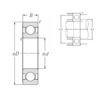 17 mm x 40 mm x 12 mm  NTN 6203 deep groove ball bearings