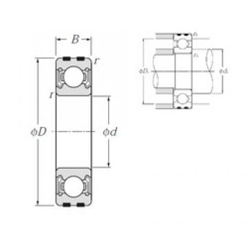 50 mm x 90 mm x 20 mm  NTN EC-6210LLB deep groove ball bearings