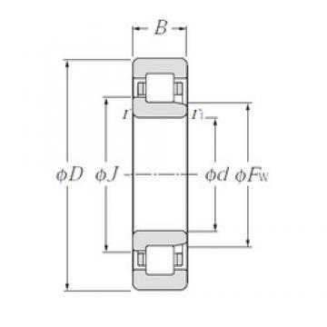 110 mm x 240 mm x 50 mm  NTN NJ322 cylindrical roller bearings