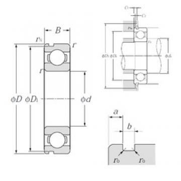 50 mm x 90 mm x 20 mm  NTN 6210N deep groove ball bearings