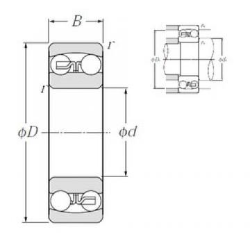 90 mm x 190 mm x 43 mm  NTN 1318S self aligning ball bearings