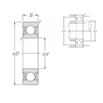 65 mm x 140 mm x 33 mm  NTN 6313LLU deep groove ball bearings