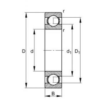 50 mm x 80 mm x 16 mm  FAG 6010 deep groove ball bearings