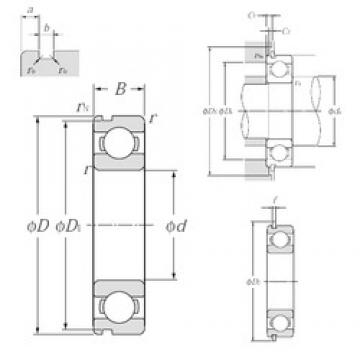 65 mm x 85 mm x 10 mm  NTN 6813NR deep groove ball bearings