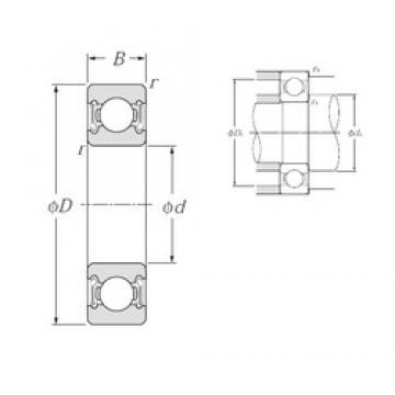 50 mm x 90 mm x 20 mm  NTN 6210LLB deep groove ball bearings
