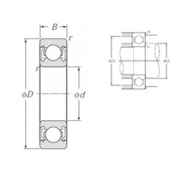 90 mm x 190 mm x 43 mm  NTN 6318ZZ deep groove ball bearings