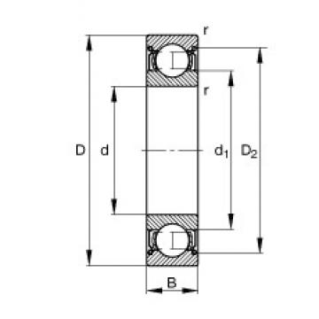 65 mm x 85 mm x 10 mm  FAG 61813-2Z-Y deep groove ball bearings