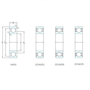 17 mm x 40 mm x 12 mm  SKF 6203-2Z/VA201 deep groove ball bearings
