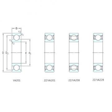 17 mm x 40 mm x 12 mm  SKF 6203/VA201 deep groove ball bearings