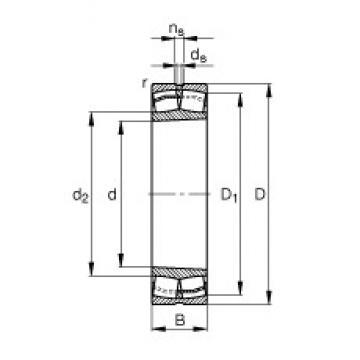 190 mm x 400 mm x 132 mm  FAG 22338-E1-K-JPA-T41A spherical roller bearings