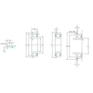 50 mm x 90 mm x 20 mm  SKF 6210-ZNR deep groove ball bearings
