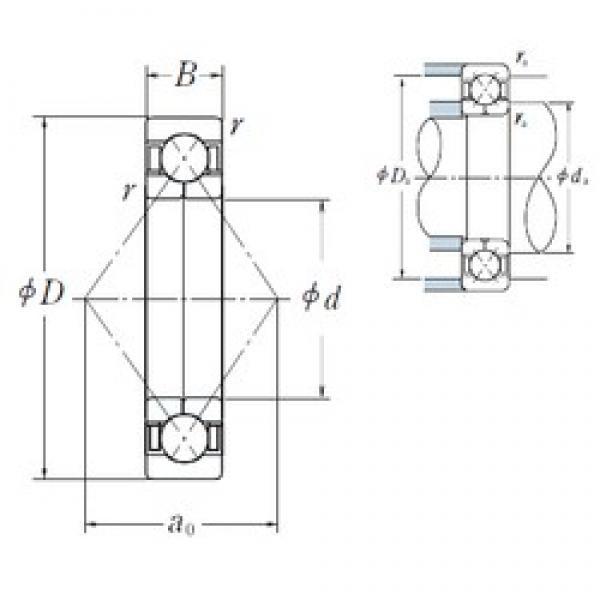 50 mm x 90 mm x 20 mm  NSK QJ210 angular contact ball bearings #2 image
