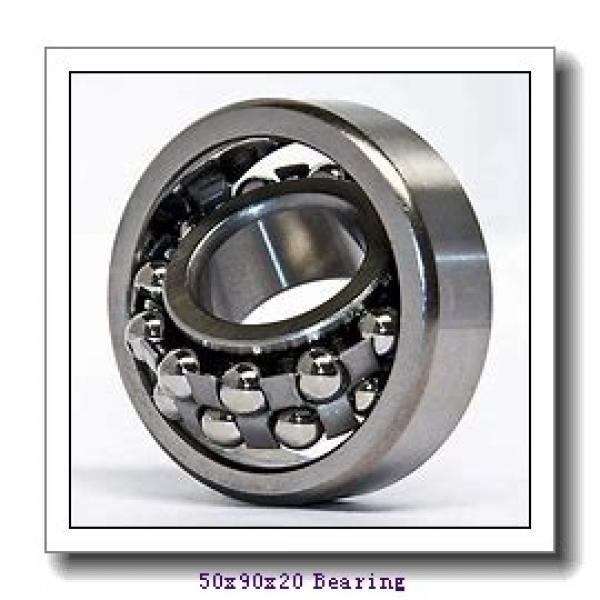 50 mm x 90 mm x 20 mm  NSK QJ210 angular contact ball bearings #1 image